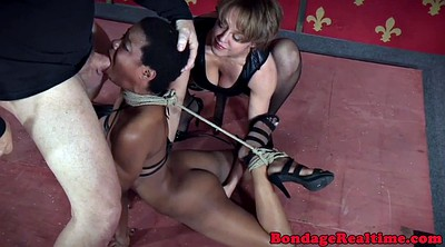 Hogtied, Black couples, Bondage vibrator