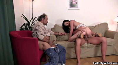 Husband watch, Husband, Old young, Czech wife, Wife watching, Old wife