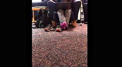 Socks, Library, Candid