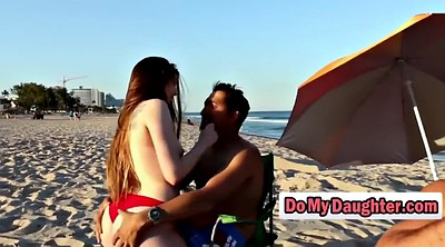 Young, Beach, Swapping, Pornstars