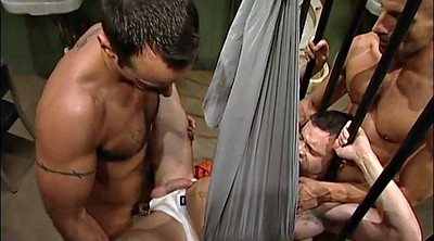Muscle, Prison, Bar, Spit, Spitting, Blowjob bar
