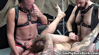 Sex swing, Leather, Hairy mature, Hairy anal