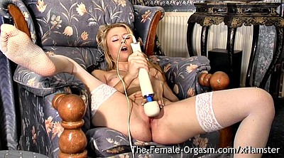 Stockings, Blond, Wet pussy
