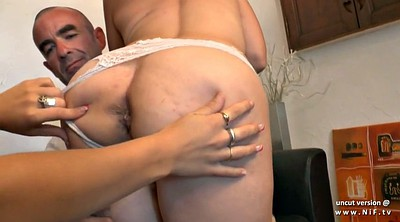 Husband, French wife, Anal casting, Anal big boobs