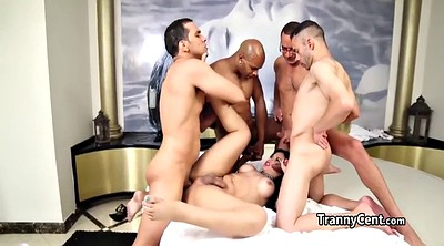 Beautiful, Shemale gangbang