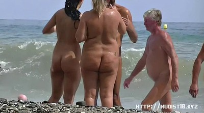 Beach voyeur, Nudists