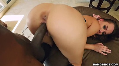 Big black cock, White, Gag on cum