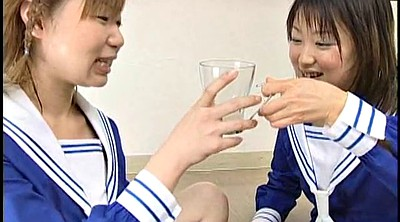 Cum swap, Swallowing cum, Japanese schoolgirl, Japanese cum, Cum swapping