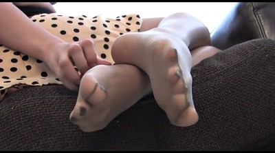 Nylon, Nylon foot, Nylon feet, Nylon tease, Foot tease, Feet nylon