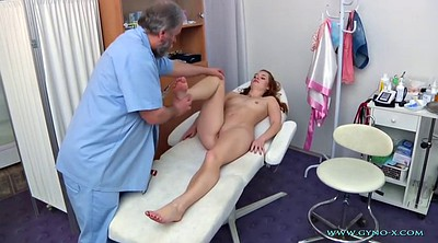 Gyno, Exam, Nurses, Sex young, Double foot
