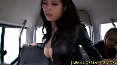 Leather, Japanese busty, Japanese busty big tits