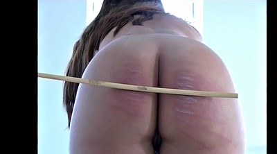 Naked, Plumper, Caning, Caned