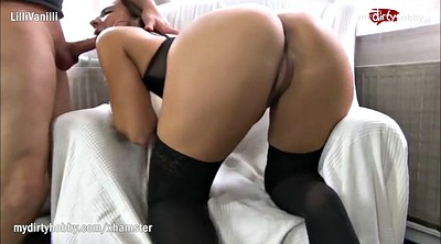 Anal creampie, German ass