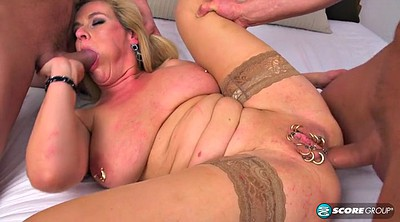 Stockings threesome, Stockings milf