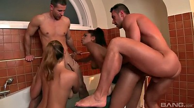 Orgy, Double anal, Anal orgy, Shower sex, Orgy anal, Latina double penetration