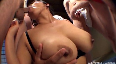 Asian gangbang, Japanese gangbang, Guy, Bangs