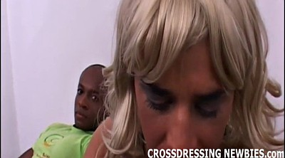 Crossdresser, Dress, Crossdressing, Crossdress, Amateur interracial