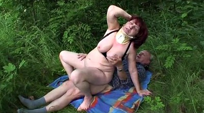 Bbw mature, Outdoor mature