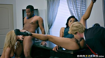 Foursome, Michelle, Clothed, Milf office
