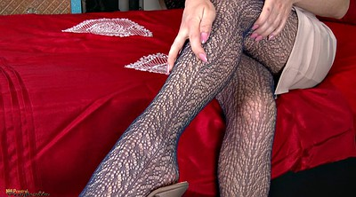 Stocking, Ebony, Fishnet, Black stocking