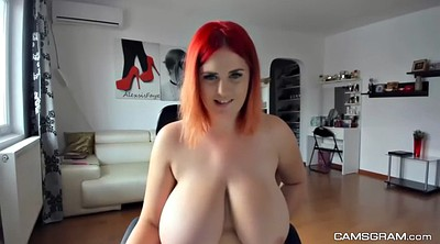 Redhead, Huge natural tits, Nature, Huge naturals, Huge natural