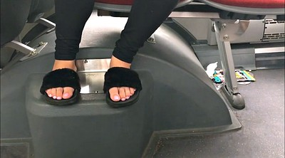 Bus, Candid feet, Slippers, Candids