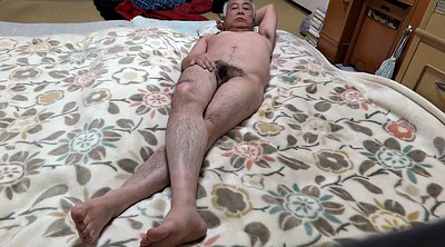 Japanese, Bed, Touch, Japanese cock