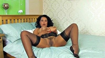 Stockings solo, Mature solo, Stocking milf