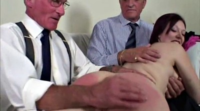 Spanked, Vintage granny, Young and old
