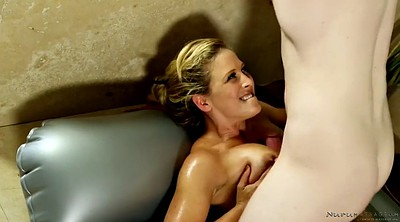 Nuru massage, Cherie deville, Massages, Massage oil, Massage blonde