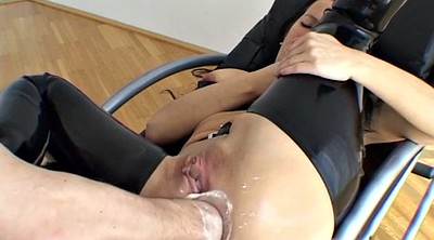Anal plug, Milf bondage, Latex fuck, Latex bondage, Angel, Anal latex