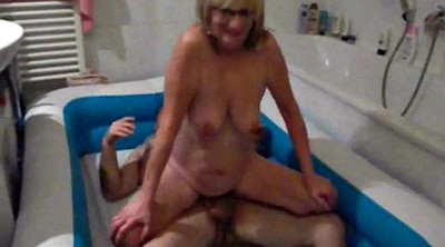 Piss, Granny threesome, German amateur, Granny pissing