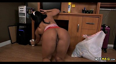 Thick, Latina maid, Big tit maid