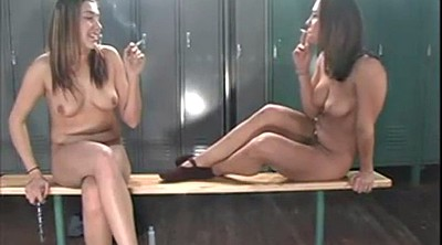 Smoking, Smoking fetish, Locker room, Locker
