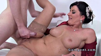 Agent, Mature big tits, Mature casting