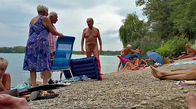 Grandpa, Old grandpa, Nudist