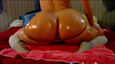 Tease, Webcam ass, Oiled