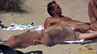 Clit, Close up pussy, Beach voyeur