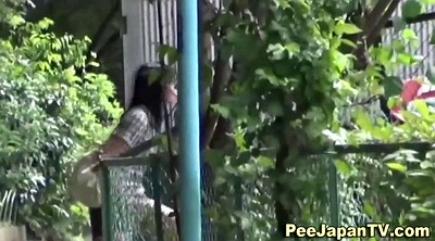 Outdoor, Japanese girl, Japanese public, Asian public, Pretty girl, Public peeing