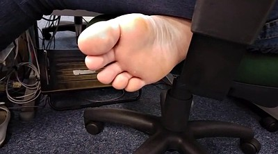 Office foot, Candid, Sole, Feet candid