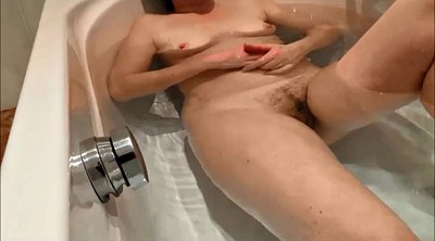 Hairy, Shower, My wife, Hairy wife, Bath hidden