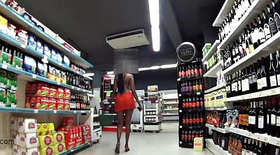 Black, Shop, Public flashing, Naked, Shopping