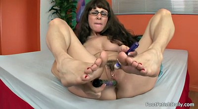 Foot, Mature feet, Silk, Mature foot, Alexandra, Foot solo