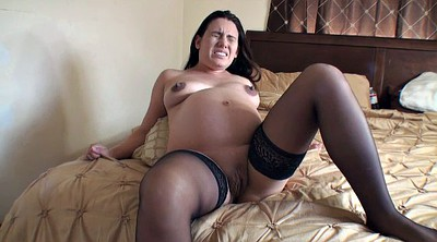 Pregnant, Mature stockings, Preggo