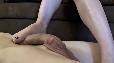 Footjob, Foot, Old milf