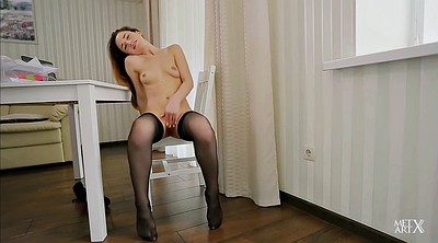 Office solo, Stockings solo, Stocking office, Stocking masturbation, Solo stocking