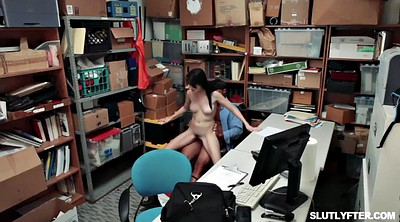 Shoplifting, Shoplift, Office threesome, Mom blowjob