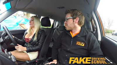 School, Busty creampie, Fake driving school, Fake driving, Driving
