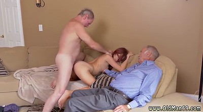 Old and young, Amateur gang, Granny threesome, Cuckold threesome