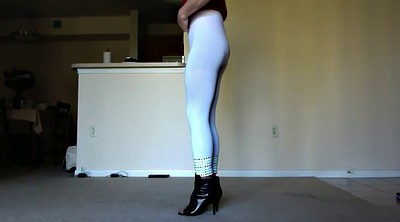 Crossdress, Leggings, Sexy legs, Gay swallow